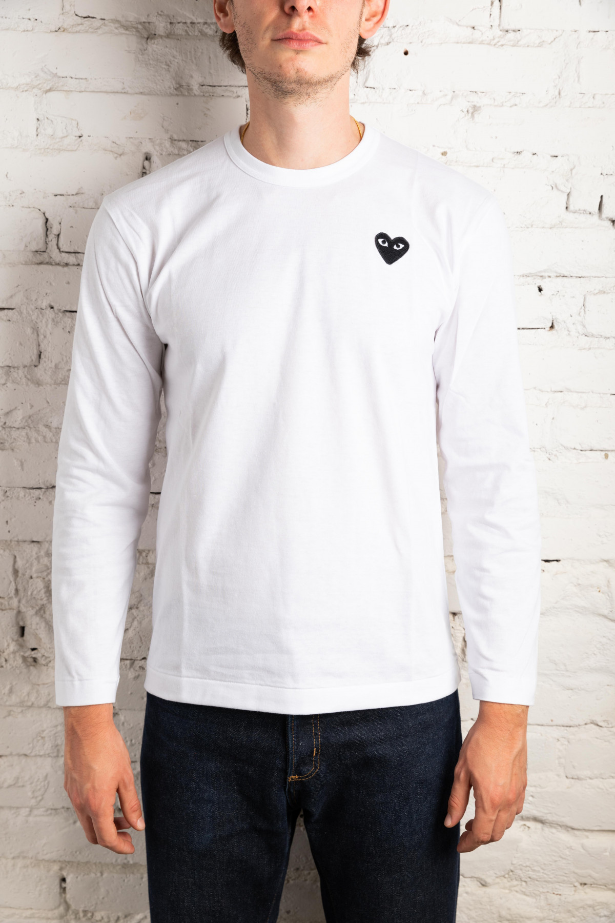 Play Long Sleeve T-Shirt Men Black Heart P1T120