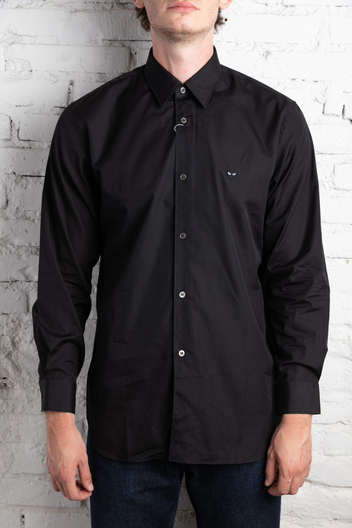 Play Shirt Men Black Heart P1B014