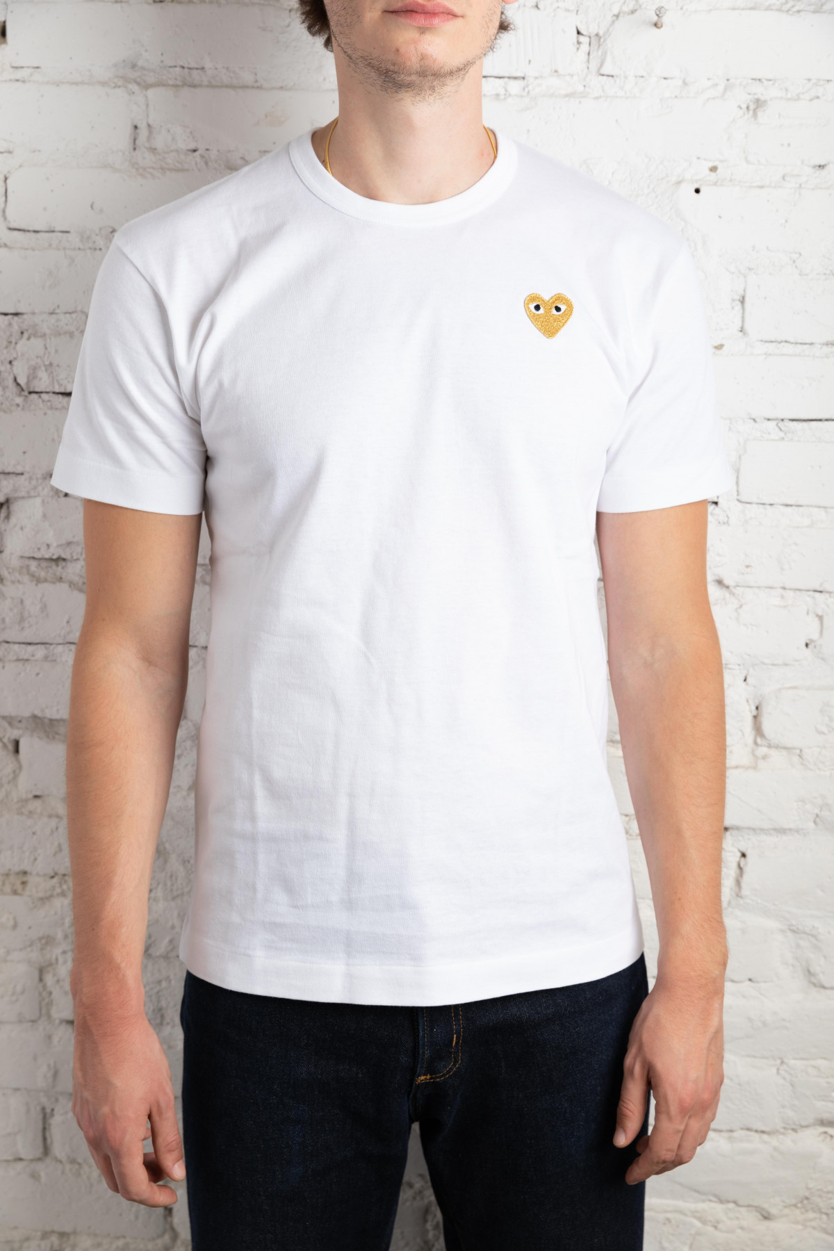 Play T-Shirt Man Gold Heart P1T216