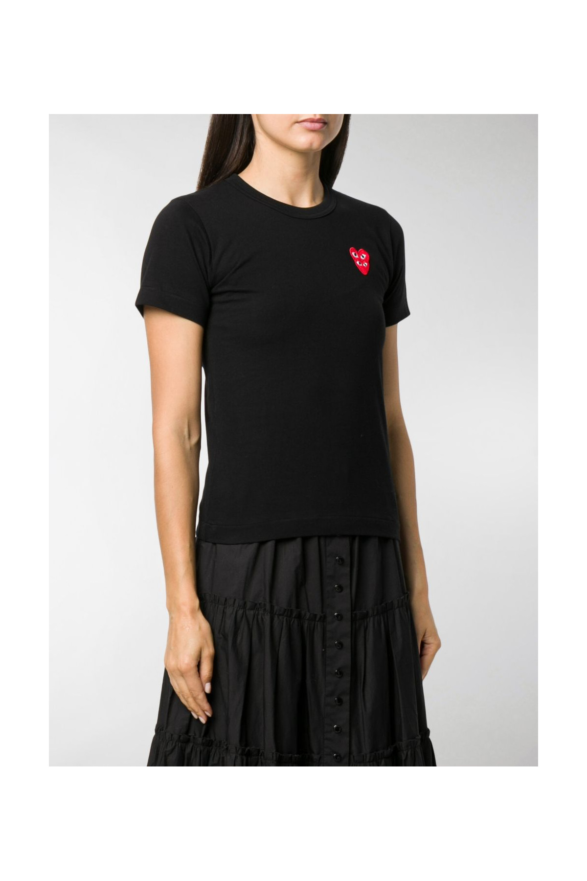 Ladies T-Shirt Multi Red Red Heart P1T287