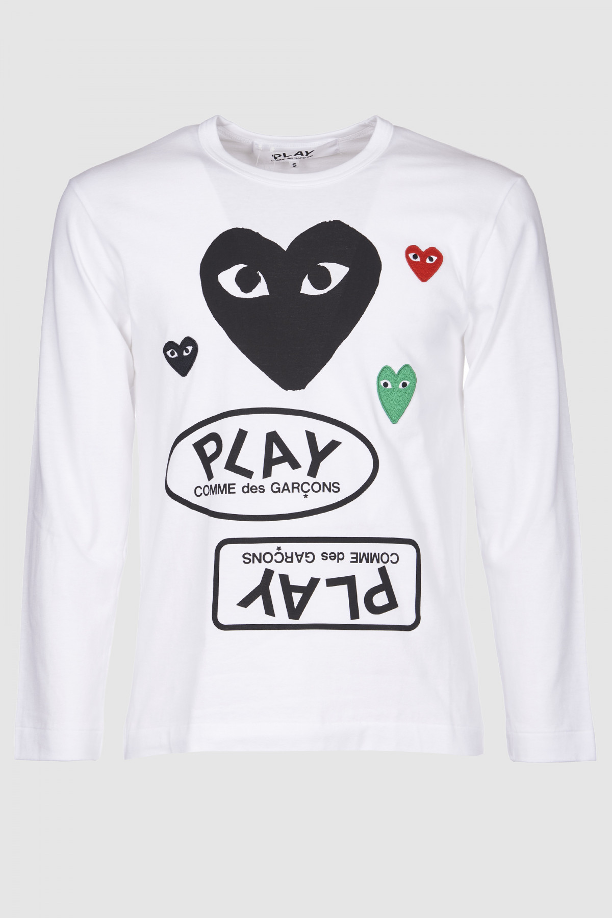 Mens Long Sleeve Black Heart & Logo P1T286