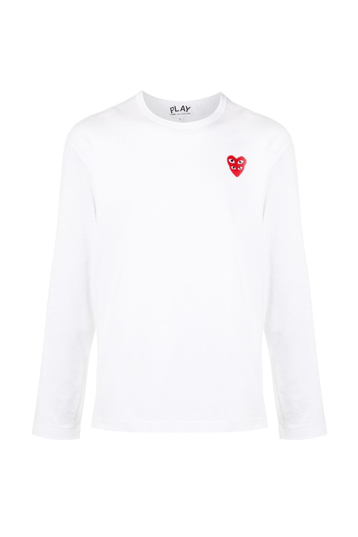 Mens Long Sleeve T-Shirt Red Red Heart P1T292